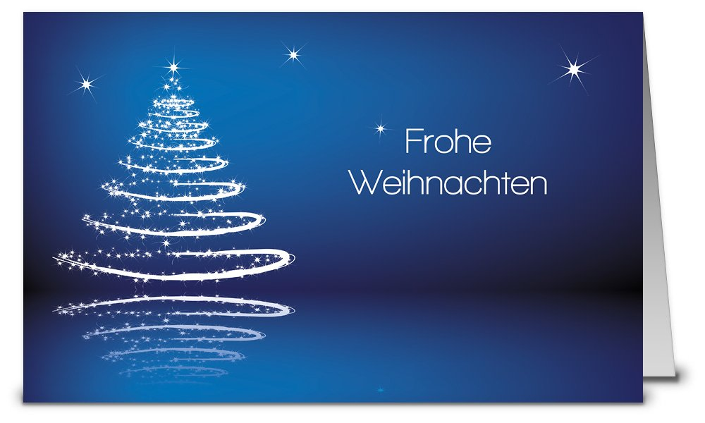 weihnachtskarten blau mit umschlag set 50 st ck. Black Bedroom Furniture Sets. Home Design Ideas