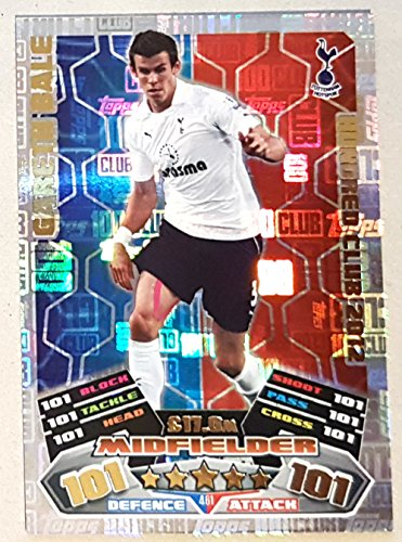 2016 17 MATCH ATTAX 100 CLUB GARETH BALE HUNDRED CLUB LEGEND CARD 2012  461