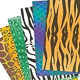Baker Ross Feuilles de Papier Imprimées Animal - Vendu par pack de 40