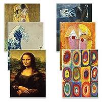 Creanoso Famous Art Paintings Postcards (12 Pack)