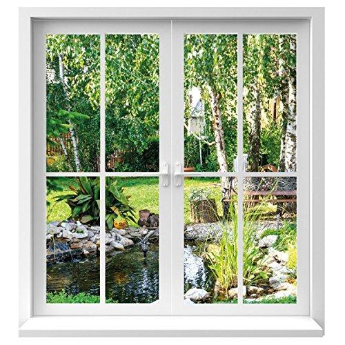 Premiumdesign sticker mural motif fenêtre en grandeur...