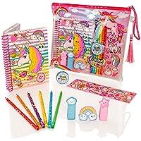 Style Girlz Deluxe Unicorn Stationery Set - Girls Coloring Pencils Cuaderno de Diario Kit de Arte de Estuche de lápices