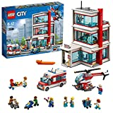 LEGO 60204 City Town Hospital Heroes with Ambulance and Helicopter Toys, Plus Light Bricks and 11 Minifigures, Rescue Set for Kids 6-12 Years Old, Multicolor