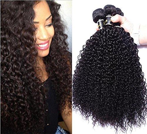 Grade Kinky Gelockt Menschliches Haar 3 Bundles / Pack Mix Längen Haare Natürliche Farbe , 24 26 28 (Halloween 3 Todesfälle)
