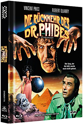 Die Rückkehr des Dr. Phibes - uncut (Blu-Ray+DVD) auf 333 limitiertes Mediabook Cover A [Limited Collector's Edition]