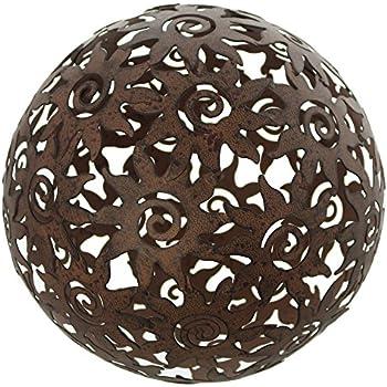 Homestyle /& more Kugel Rosina Ornament Terrakotta grau