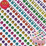 """Baker Ross Glitzernde Kristall-Schmuckstein-Aufkleber """"Ostern"""" (300 Stück) - für Kinder zum Basteln und Gestalten zu Ostern"""