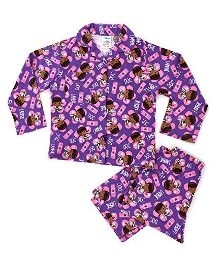 Kinder/Mädchen Schlafanzug - Disney-Motive - Angeraute Baumwolle - Doc McStuffins - 18-24 Monate