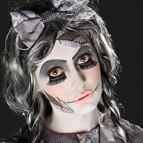 pe Schminkset Gothic-Puppe mehrteilig Kosmetik kaputte Puppe Beauty Kit Halloween Schminke Horrorkostüm Theaterschminke Styling Gruseloutfit (Puppe Make-up-halloween-spiele)