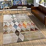 Paco Home Alfombra De Diseño Moderno Elegante Estampada A Cuadros Marrón Beige Gris Crema, tamaño:80x150 cm