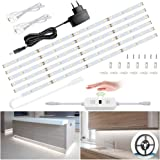 6M Tiras LED Regulables 12V, Ustellar 360 LEDs Clips 1800lm, Tira LED Luz Blanco Frío 6000K, LED Mano Sensor Movimiento Enchu