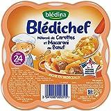 Blédina Blédichef Assiette Mitonné de Carottes Macaroni au Boeuf dès 24 Mois 260 g