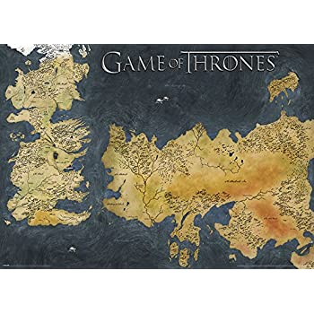 game of thrones carte des 7 royaumes amazon