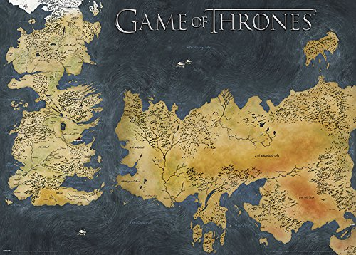 Game Of Thrones Juego de Tronos Westeros y Essos – Cartel metálico
