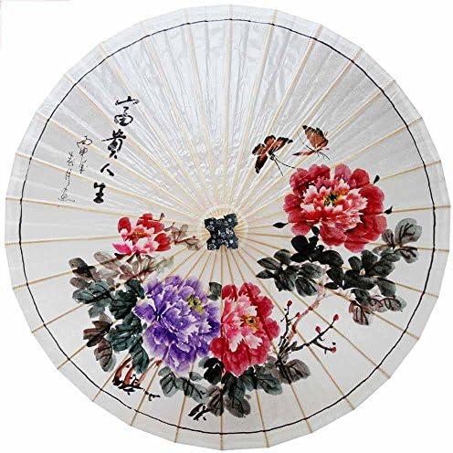 SSBY Ombrelli di Peony cinese dipinto a a a mano puri, ombrello di carta retrò, tradizionale , A | Qualità Eccellente  | In Linea  6c97b9