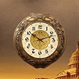 Arte europeo occidental salón creativa reloj de pared Reloj de cobre watch bell llena de silencio