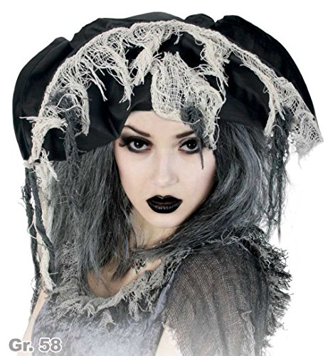 Black Kostüm Pearl Piraten - narrenwelt Hut Zombie - Pirat Piratenhut Zombie Horror Halloween Gothic Piratenhut 58cm Erwachsene