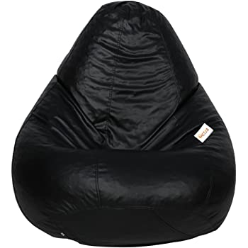 Sattva Classic XL Bean Bag Without Beans (Black)