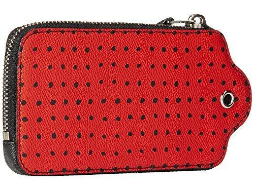 Coach Brieftasche 52928 BadlandsTiny Dot Crossgrain Leder Hangtag Case Schwarz gedruckt (Coach Brieftasche Frauen)