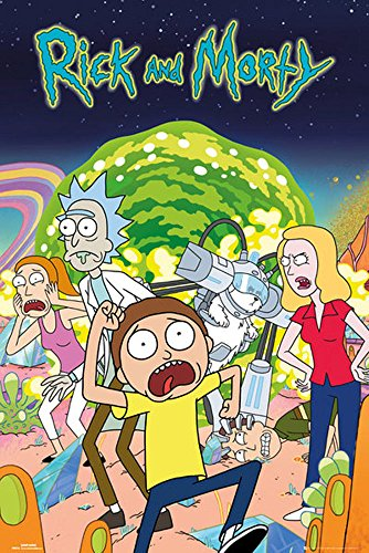 empireposter 744784 Rick and Morty - Group Impresión - Póster, Papel, 91,5 x 61 x 0,14 cm