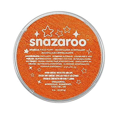 Snazaroo Kinder - Schminkfarbe, 18ml - Topf schimmerndes Orange (Halloween Kostüme Arts And Crafts)