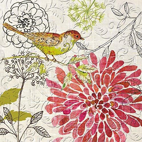 Floral Geprägt Papierserviette, 20Zählen ()
