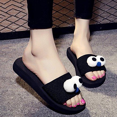 Pantoufles d'été pour dames Chaussures décontractées antidérapantes Personnalisation de sandales de sable épais (couleur, taille facultative) ( Couleur : #2 , taille : EU36/UK4/CN36 ) #2