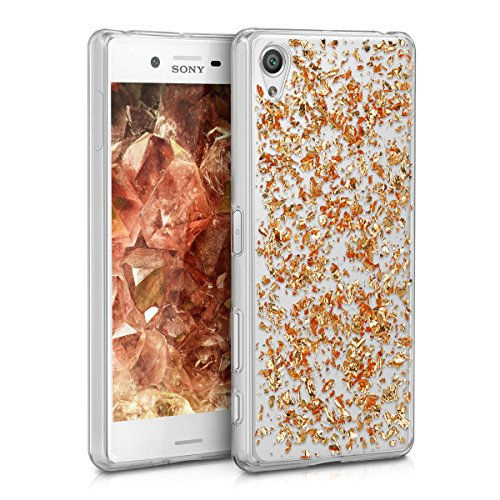 kwmobile-crystal-tpu-silicone-case-for-sony-xperia-x-in-rose-gold-transparent-design-flakes