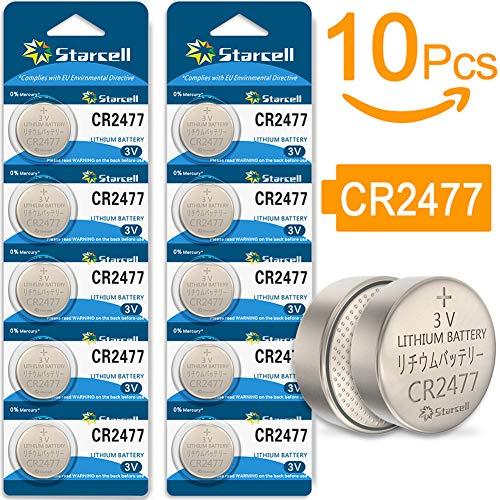 Starcell CR2477 Lithium-Knopfzelle (3 V, Nicht wiederaufladbar) 10pcs