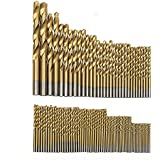 Hakkin 99 Piezas Taladro Micro Set de titanio de alta velocidad HSS brocas helicoidales de metal Taladro pone el bit Profi de siembra 1.5mm-10mm