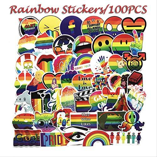 Skateboard Gepäck Aufkleber 100er Trolley Case Aufkleber Graffiti Koffer Dekor Regenbogen Farbe