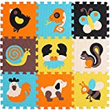 XMTMMD Schaumstoff Puzzle Matte Fruits Baby Gym Puzzle Spielmatte Kids Interlocking Soft Boden Fliesen Kinder Zimmer Play Bereich