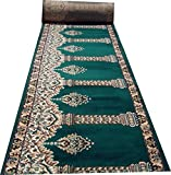 #7: Janamaz Rolls for Mosque(Masjid) and Hall size 4x20 feet Runner 0.5 inch thickness- Green