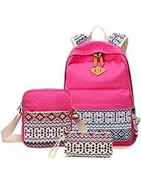 Katech Multifunción Mochilas para Estudiantes Adolescentes Moda Escuela Bolsas Set con Daypack Casual, bolsa de hombro y lápiz