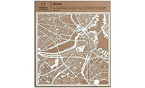 Boston Scherenschnitt Karte, Weiß 30x30 cm Papierkunst