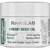 RevitaLAB - Crema hidratante antiarrugas de día y de noche con colágeno enriquecida con ácido hialurónico, Matrixyl® 3000, ac
