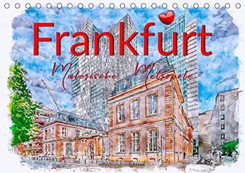 Frankfurt - malerische Metropole (Tischkalender 2020 DIN A5 quer)