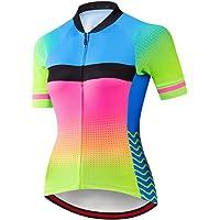Maglia da ciclismo a manica corta per donna con tasche, maglia da bici da ciclismo MTB antisudore per asciugatura rapida…