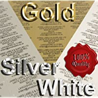 Address Labels 38mm x 21mm (Name & Address Labels) X 260 Gold, Silver or White Pre-Printed