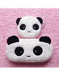 Omeny Niños Suministros de Escuela Accesorios Lovely Panda algodón Pencil Case Plush Pen Bag