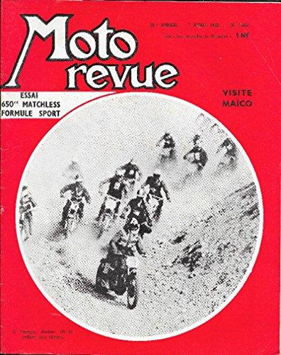 MOTO REVUE . N° 1586 . 7 avril 1962 . Essai 650 Matchless formule sport . par G. Lacome