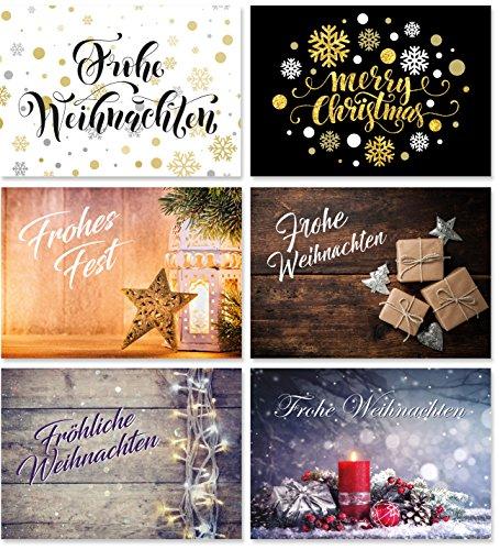 Biglietti Di Natale On Line.24 Cartoline Di Natale 6 Motivi Ciascuno Di 4 Cartoline