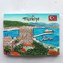 3d, polirresina, Alanya Turquía Souvenir, imán para nevera casa cocina decoración promoción regalo