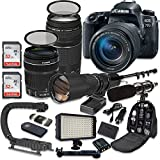 #2: Canon Eos 77d DSLR Camera Bundle with Canon Ef-S 18-135mm F/3.5-5.6 is USM Lens + Canon Ef 75-300mm