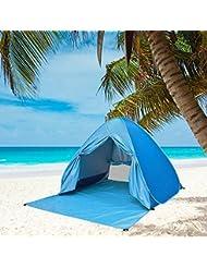 Tienda Campaña de Playa - Pop Up Contravientos/Ventilación/Protección UV/ Ligera/ para 2 o 3 Personas - Mejor Acampada para Camping, Pesca, Picnic