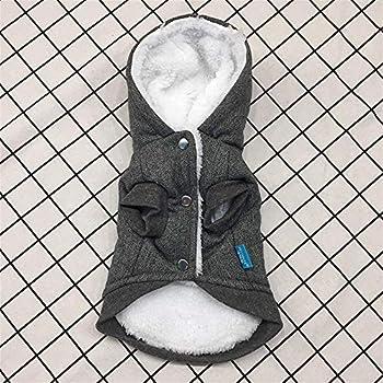 Chat Chiot Hiver Vêtements,Vêtements pour Animaux de Compagnie modèle de Couronne Manteau Chiot Hiver vêtements Chauds Couleur Gris Manteau,Manteau Habits pour Chien (L, Gris)