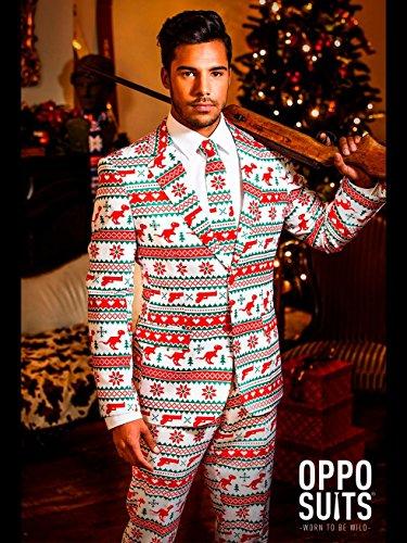 us Weihnachts Party Anzug Herren Gr. EU 52 (Rote Gangster Anzug Kostüme)