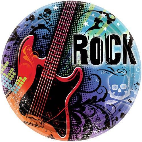 amscan International 26,7cm Papier Teller Rock Star, 18Stück