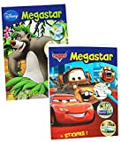 1 Stück: dickes Malbuch A4 - mit 25 Sticker - 128 Seiten - für Jungen - große Malvorlagen - Disney Cars - Princess - Tiere - Bambi - König der Löwen - Mickey Mouse u.v.m. - Malbücher Ausmalbilder Aufkleber