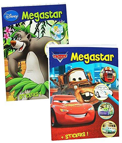 Preisvergleich Produktbild 1 Stück: dickes Malbuch A4 - mit 25 Sticker - 128 Seiten - für Jungen - große Malvorlagen - Disney Cars - Princess - Tiere - Bambi - König der Löwen - Mickey Mouse u.v.m. - Malbücher Ausmalbilder Aufkleber